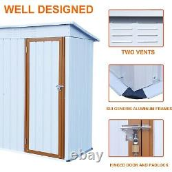 5ft x 3ft Outdoor Metal Shed Storage Shed With Pent Roof Provides Tools Storage