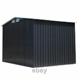 6x8 Ft Outdoor Garden Storage Shed Kit Utility Galvanized Steel Tool House New