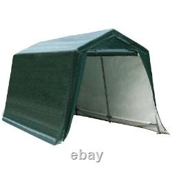 8'x14' Patio Tent Carport Storage Shelter Shed Car Canopy Heavy Duty Green