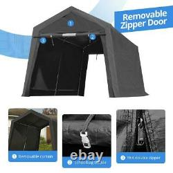 8x14 Outdoor Storage Shelter Shed Heavy Duty Anti-snow Garage Car Tent Carport
