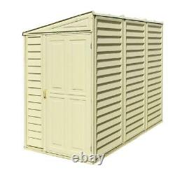 Duramax 4ft x 8ft Sidemate Vinyl Resin Outdoor Storage Shed With Foundation Kit
