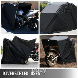 Heavy Duty Large Motorcycle Shelter Shed Cover Storage Tent Outdoor Rain Protect