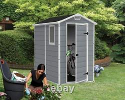 Large Resin All Weather 4x6 6x8ft Outdoor Plastic Backyard Garden Storage Shed