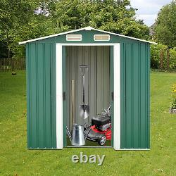 Outdoor Garden Storage Shed Tool House Backyard Utility Kit withSliding Door 6'x4