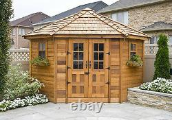 Outdoor Living Today Penthouse Cedar Storage Shed 9' x 9