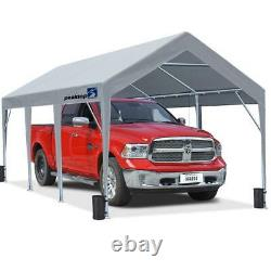 Peaktop Outdoor Storage 10X20FT 8 Legs Heavy Duty Carport Canopy Boat Cover Shed