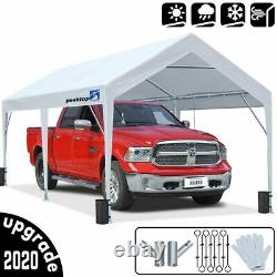 Peaktop Outdoor White Heavy Duty Shed Shelter 10x20ft Carport Canopy Storage US