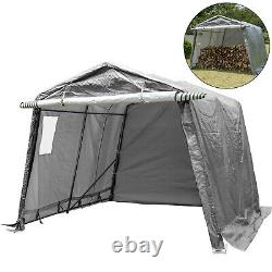 Portable Storage Shed Outdoor Carport Canopy Garage Shelter Steel Tent 10x10 ft