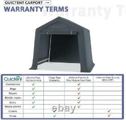 Quictent Portable Outdoor Carport Canopy Shed Storage Garage Car Shelter 6'x6