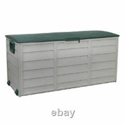 Sealey Garden Outdoor Weatherproof Storage Box Shed Case With Lid & Wheels