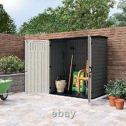 Suncast 6x4 Vertical Shed 106 cu. Ft Storage Outdoor All-Weather Construction