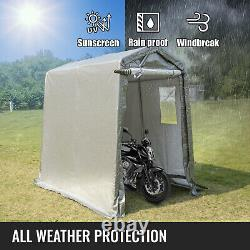 VEVOR Portable Storage Shed Motorcycle Cover Tool Lawnmower Shed 6x8x7.8